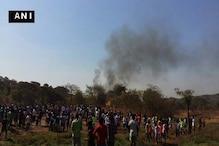 ممبئی : گورے گاوںکے آرے کالونی علاقہ میں ہیلی کاپٹرحادثہ ، پائلیٹ سمیت دو کی موت ، کئی زخمی