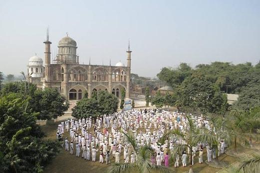 نشہ سے پاک سماج کی مہم : جامعۃ القاسم دارالعلوم الاسلامیہ کے اساتذہ اور طلبا نے بنائی طویل انسانی زنجیر