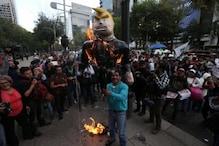 امریکہ میں ٹرمپ کی مخالفت میں پر تشدد احتجاج، مظاہرین نے پھینکیں پولیس پر پتھر اوربوتلیں