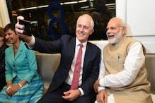 آسٹریلیائی وزیر اعظم ٹرن بل مودی کے ساتھ میٹرو سے گئے اکشردھام مندر، سیلفیاں لیں