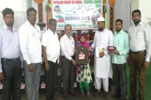 کرنول : پاپولرفرنٹ آف انڈیا کی جانب سے اسکول چلو پروگرام کا آغاز