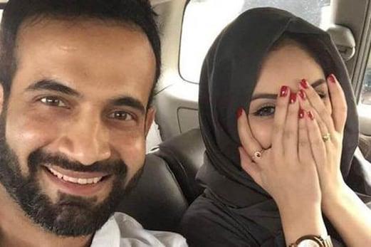 عرفان پٹھان نے اپنی اہلیہ کے ساتھ فیس بک پر شیئر کی تصویر ، عجیب و غریب آئے تبصرے