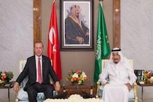 قطر بحران :طیب اردغان کی شاہ سلمان سے ملاقات ، خطے کی صورت حال پر تبادلہ خیال