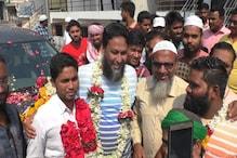 مجلس اتحاد المسلمین لیڈر سید معین ایک ماہ بعد ضمانت پر جیل سے رہا ، کارکنوں نے نکالی زبردست ریلی