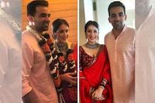 ظہیر خان اور اداکارہ ساگریکا گاٹکے بالآخر شادی کے بندھن میں بندھ گئے ، 27 نومبر کو ریسپشن