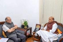 انشو پرکاش پر جاری گھمسان کے درمیان دہلی کے لیفٹننٹ گورنر کی راجناتھ سے ملاقات