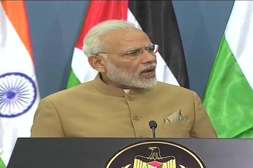 آزاد اور خود مختار فلسطین کو ہندوستان کی حمایت ، قیام امن کیلئے بات چیت کا راستہ ہی واحد حل : مودی