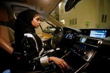 پابندی ختم ، سعودی عرب میں اسٹیئرنگ پکڑے نظر آئیں خواتین ، نصف شب میں ہی جشن کا ماحول