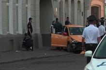 ورلڈ کپ میزبان ماسکوکے ریڈ اسکوائر میں بھیڑ میں کار، 8 افراد زخمی