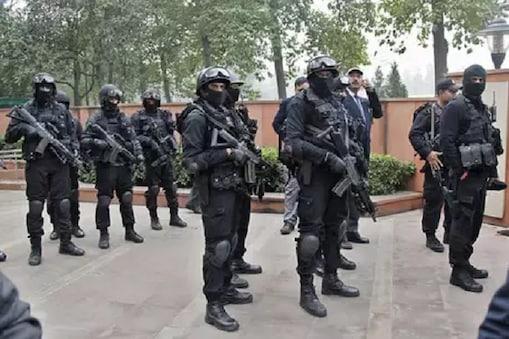 جموں شمیر دہشت گردوں سے نمٹنے کو تعینات ہوئے این ایس جی:(علامتی تصویر)۔