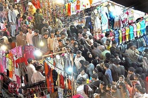 حیدرآباد میں آخری لمحات میں عیدا لفطر کے لئے خریداری