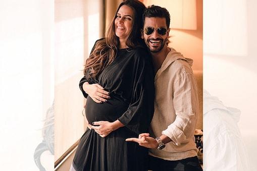 حاملہ نیہا دھوپیا اپنے شوہر انگد بیدی کے ساتھ