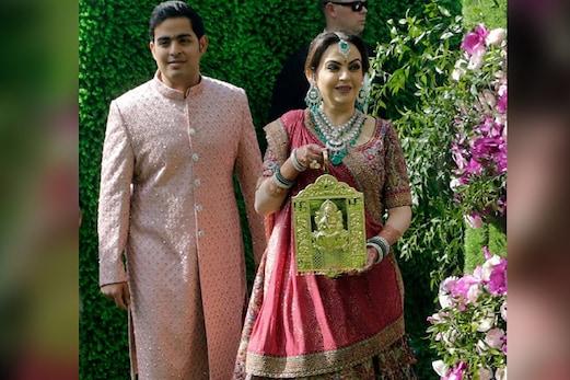 آکاش کی شادی میں گنپتی لے کرچلتی نظرآئیں نیتا امبانی، جانیں اس کی اہمیت