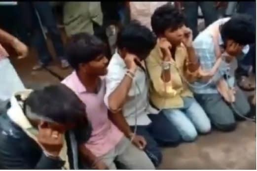 گئو اسمگلنگ کے شک میں ہاتھوں میں رسی باندھ کرلگوائے گئے ''گئوماتا کی جئے'' کے نعرے۔ دیکھیں ویڈیو