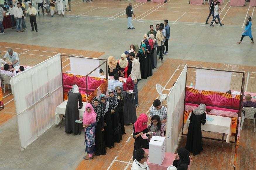 مولانا آزاد نیشنل اُردویونیورسٹی طلبا یونین کےانتخابات
