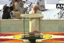 مہاتما گاندھی کی 150 ویں سالگرہ: مودی، سونیا اور منموہن نے باپو کو پیش کیا خراج عقیدت