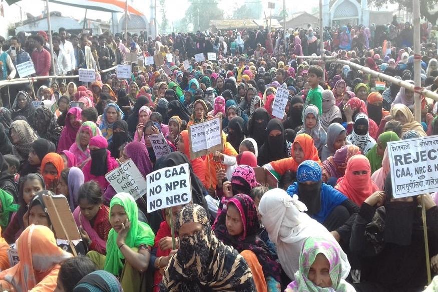 دربھنگہ کے کیوٹی اسمبلی حلقہ اور جالے اسمبلی حلقہ کے کئی گاؤں میں شہریت قانون کے خلاف احتجاج