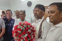 کرناٹک : ڈی کے شیوکمار کی سابق مرکزی وزیر کے رحمن خان سے ملاقات ، ان امور پر ہوئی گفتگو