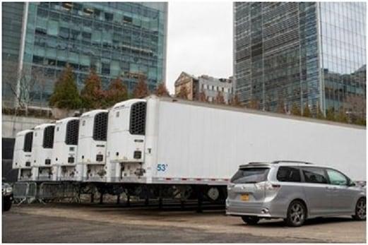کورونا وائرس: نیو یارک میں ٹرکوں پر مردہ گھر بنانے کی تیاری، لگ سکتا ہے لاشوں کا ڈھیر