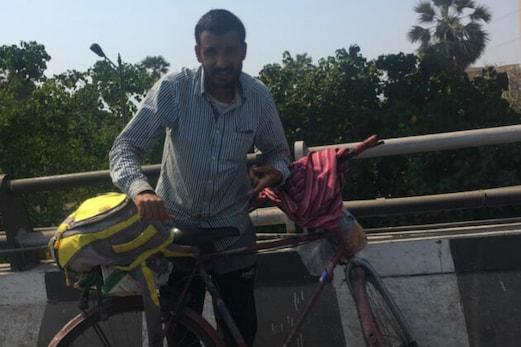 ممبئی سے سری نگر کیلئے 2100 کلو میٹر کے سفر پر سائیکل سے نکلا 36 سالہ محمد عارف ، یہ ہے اصل وجہ