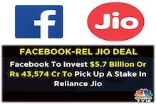 ہندوستان میں سرمایہ کاری:فیس بک نے ریلائنس جیوکے 9.99فیصدشیئرز43،574کروڑ روپئے میں خریدے