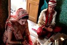 لاک ڈاؤن: علی گڑھ میں ہوئی انوکھی شادی، سماجی دوری کے ساتھ دولہا۔ دلہن نے لئے سات پھیرے