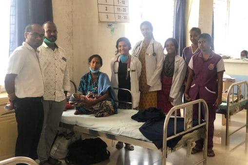 لاک ڈاون کے مشکل ترین دور میں دیہی علاقہ کی ایک غریب خاتون کیلئے بنگلورو کا ڈاکٹر بنا فرشتہ