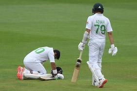 پاکستانی بلے باز عابد علی کو ایسی جگہ پر لگی گیند کہ درد سے کراہ اٹھے ، بلانا پڑگیا فیزیو