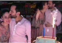 کرینہ کپور۔سیف علی خان کا کس کرتے ہوئے ویڈیو ہوا وائرل، کچھ اس انداز میں منایا یوم پیدائش