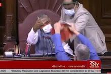Farm Bills 2020: راجیہ سبھا میں ہنگامہ کرنے پر اپوزیشن کے 8 اراکین پارلیمنٹ معطل