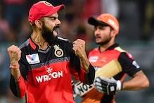 IPL 2020 : وراٹ کوہلی کی آر سی بی کا فاتحانہ آغاز ، دلچسپ میچ میں حیدر آباد کو دی مات