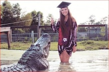 گریجویشن کی ڈگری لیتے ہی مگرمچھ کے ساتھ تصویرکھینچوانے پہنچ گئی لڑکی ، پھر ہوا کچھ ایسا