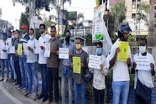 رانچی میں سماجی تنظیموں نے کیا احتجاج، فادراسٹین سوامی اورعمر خالدکی گرفتاری کےخلاف خاموش