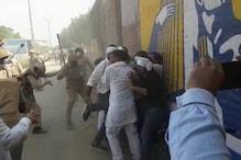 ہاتھرس سانحہ پر سیاسی گھمسان جاری،  آر ایل ڈی - سماجوادی کارکنان پر پولیس کا لاٹھی چارج