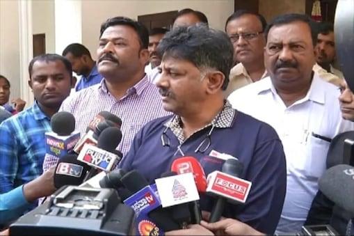 کرناٹک پردیش کانگریس کمیٹی کے صدر ڈی کے شیوکمار کی فائل فوٹو