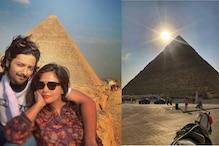 مصر میں کچھ اس طرح چھٹیاں مناتی نظر آئیں اداکارہ رچا چڈھا، تصویر ہوئی وائرل