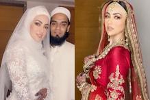 اداکارہ ثنا خان نے شوہر مفتی انس کے ساتھ شیئر کیں شادی کی ان دیکھی تصویریں
