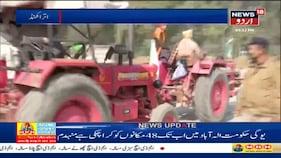 کسانوں کا احتجاج، بارڈر پر کسانوں کو روکنے کی کوشش: دیکھیں ویڈیو