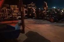 یمنا ایکسپریس وے پر خطرناک حادثہ، بے قابو ٹینکر انووا کار پر پلٹ گیا، 7 افراد کی موت
