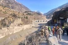 Chamoli : تپوون ٹنل میں بھرا پانی ، ریسکیو آپریشن رکا ، امدادی اہلکاروں کو باہر نکالا گیا