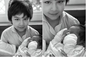 کرینہ کپور خان نے دکھایا چھوٹے بیٹے کا چہرہ ، تیمور کی گود میں نظر آیا چھوٹا نواب