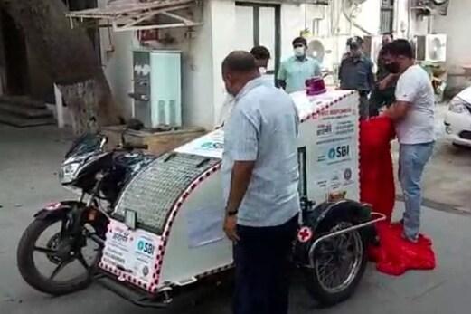 مہاراشٹر : بائیک ایمبولینس کے ذریعہ کورونا مریضوں کو پہنچایا جارہا اسپتال ، جانئے کچھ خاص باتیں