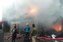 جموں و کشمیر : بارہمولہ کے ٹنمگرگ میں بھیانک آتشزدگی ، چار دکانیں جل کر خاکستر
