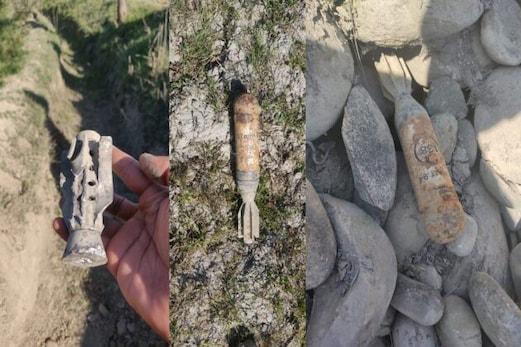 شمالی کشمیر کے کنزر میں دھماکہ خیز شیل برآمد، سکیورٹی فورسز نے بنایا ناکارہ