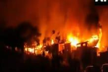 دہلی میں روہنگیا پناہ گزین کے کیمپ میں لگی بھیانک آگ،50 سے زیادہ چھوپڑیاں جل کر خاک