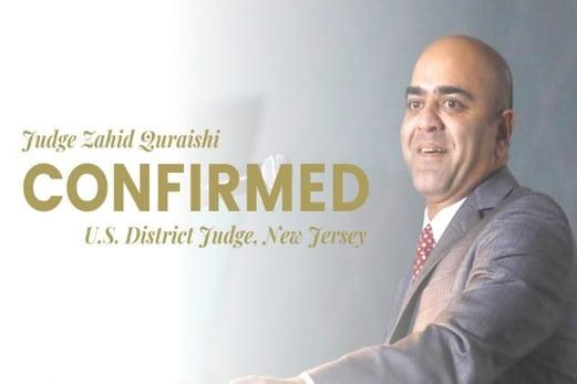امریکہ کی244 سالہ تاریخ میں پہلی بار پاکستانی نژاد مسلمانزاہد قریشیامریکی وفاقی جج کی حیثیت سے منتخب