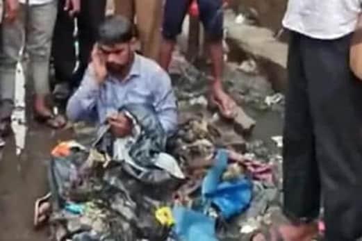مہاراشٹر : شیو سینا کے ایم ایل اے نے ٹھیکیدار پر کوڑا کرکٹ پھینک دیا ! مچ گیا ہنگامہ