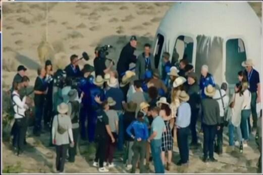 Jeff Bezos خلا کی سیر کرکے زمین پر واپس لوٹے ، یہاں دیکھئے پورے آپریشن کا ویڈیو