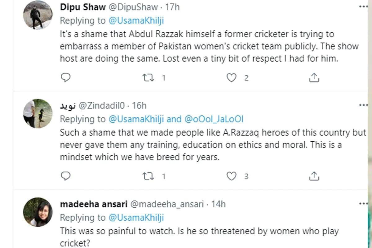 عبدالرزاق سے متعلق سوشل میڈیا پر لوگوں نے تبصرہ کئے۔ ٹوئٹر