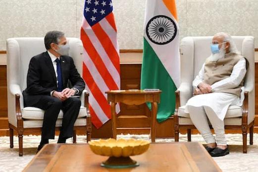 وزیر اعظم مودی سے امریکی وزیر خارجہ کی ملاقات ، تعلقات کو مزید مستحکم بنانے کے عزم کا اعادہ